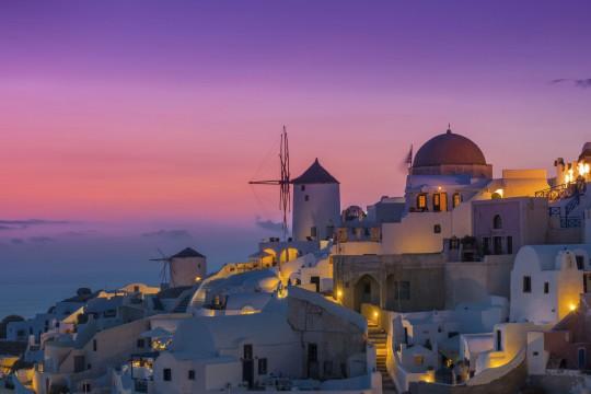 Santorin: Sonnenuntergang Oia