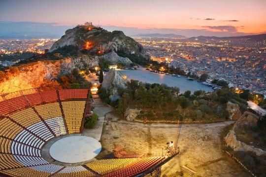 Athen in der Dämmerung