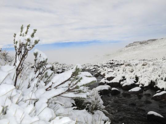 Lesotho: Schneelandschaft