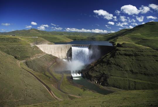 Lesotho: Katse-Talsperre