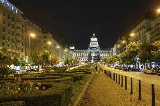 Prag. Wenzelsplatz