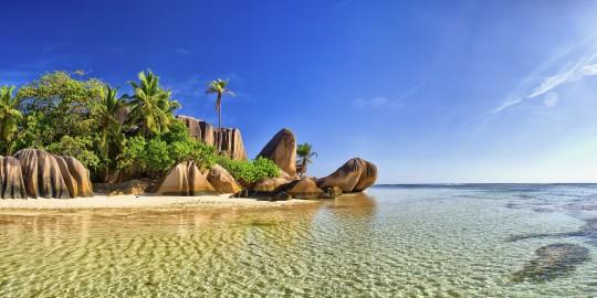Seychellen: Strand La Digue