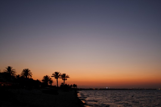 Hammamet: Sonnenuntergang