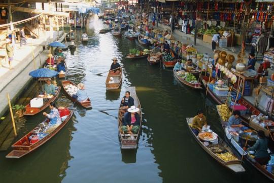 Bangkok: Wassermarkt