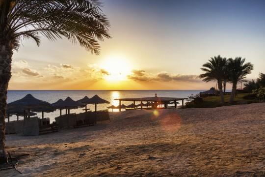 Hurghada: Sonnenuntergang am Stand