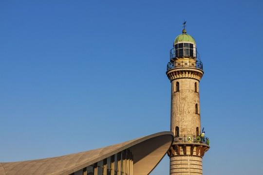 Ostsee (MV): Leuchtturm Warnemünde