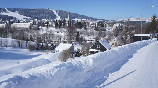Erzgebirge im Winter