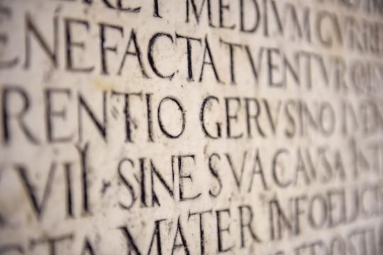 Rom: Alte Latein Inschrift