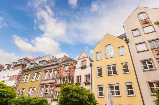 Düsseldorf: Häuser in Düsseldorf-Altstadt