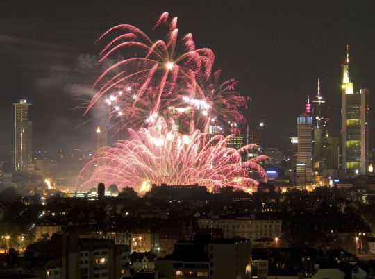 Frankfurt: Feuerwerk