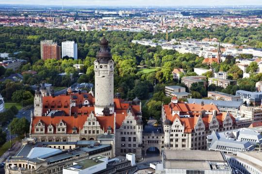 Leipzig: Blick von oben