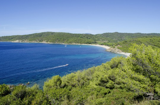 Côte d'Azur:French riviera beaches near Saint-trop
