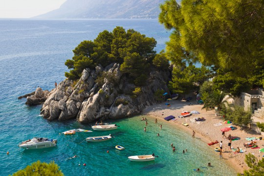 Kroatien: Beach at Brela