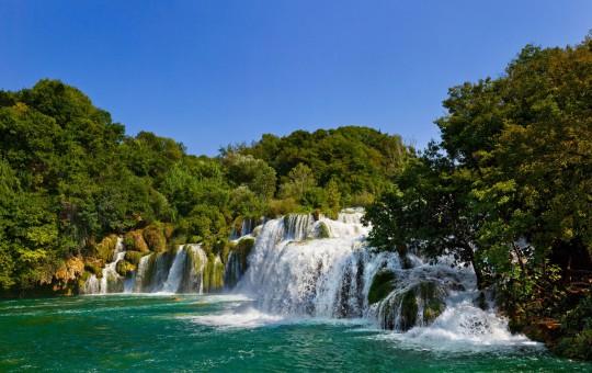 Dalmatien: Flusslandschaft Krka