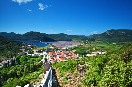 Blick nach Ston auf der Halbinsel Pelješac