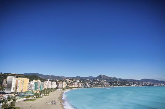 Costa del Sol: Blick auf Malaga