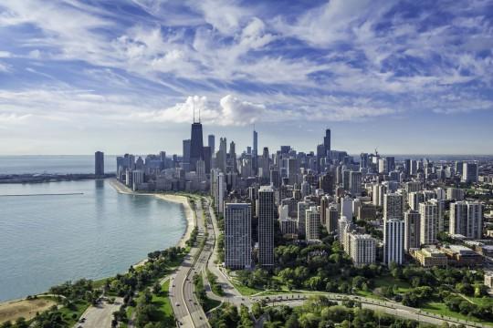 Chicago aus der Vogelperspektive