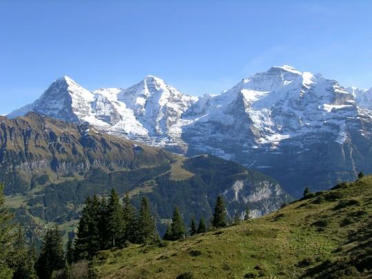 Schweiz (Westen): Eiger, Mönch und Jungfrau