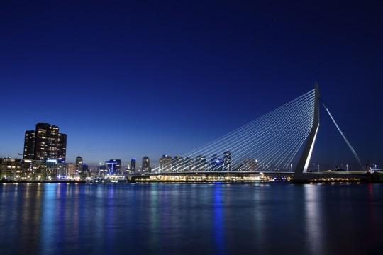 Niederlande (Nordsee): Rotterdam - Erasmusbrücke
