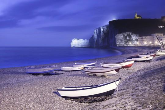 Frankreich (Atlantikküste): Bucht in Etretat