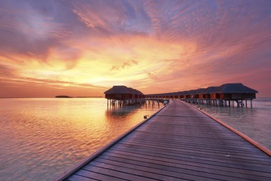 Malediven: Sonnenuntergang