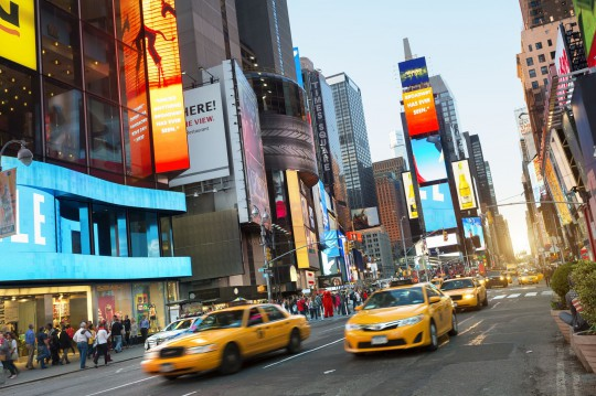 New York: Times Square bei Nacht
