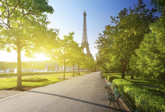 Paris: Park & Eiffelturm